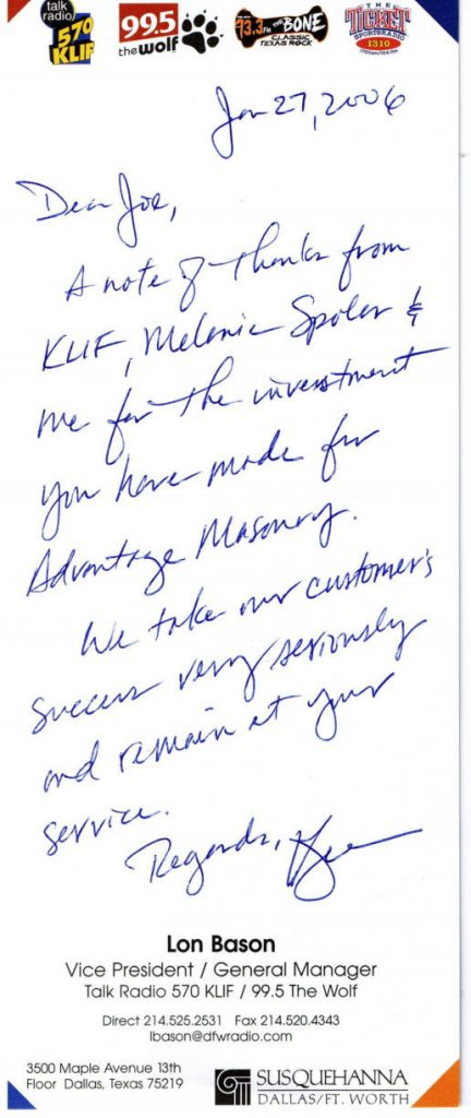 KLIF Ion Bason Testimonial