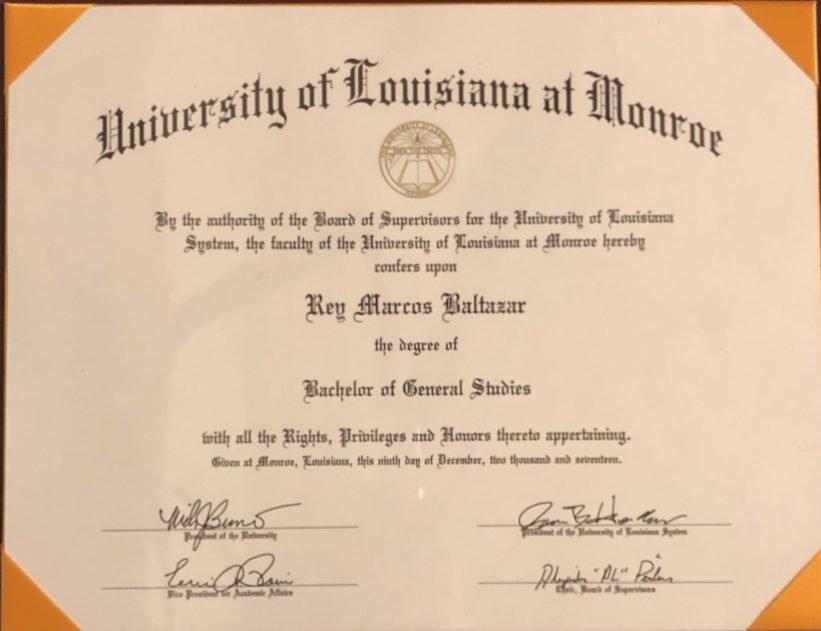 Rey Baltazar Degree Stanford