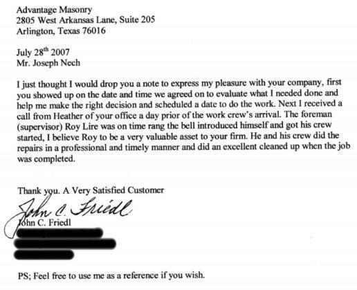 John Friedl Testimonial